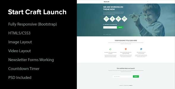 Start Craft Launch Page