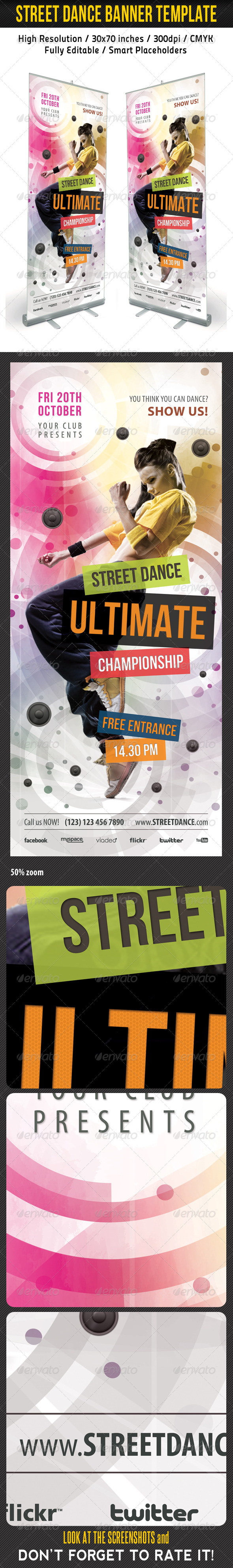 GraphicRiver Dance Banner Template 03 6765878