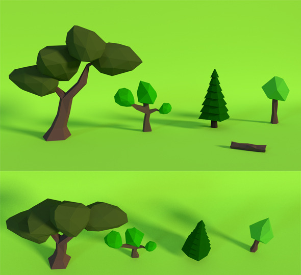 LowPoly Trees Pack1