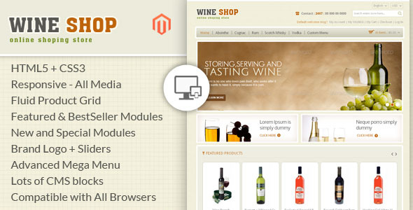 Wine Shop - Magento Responsive Template