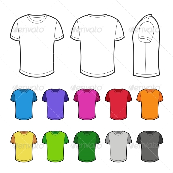 GraphicRiver Shirts in Various Colors 6766597