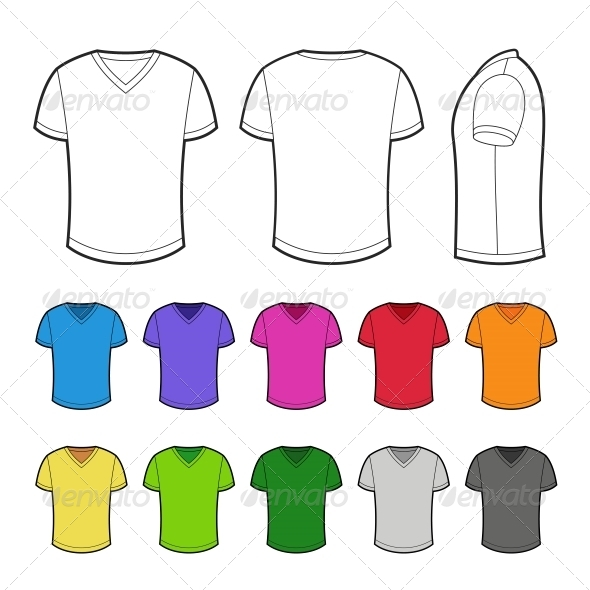 GraphicRiver Shirts in Various Colors 6766602