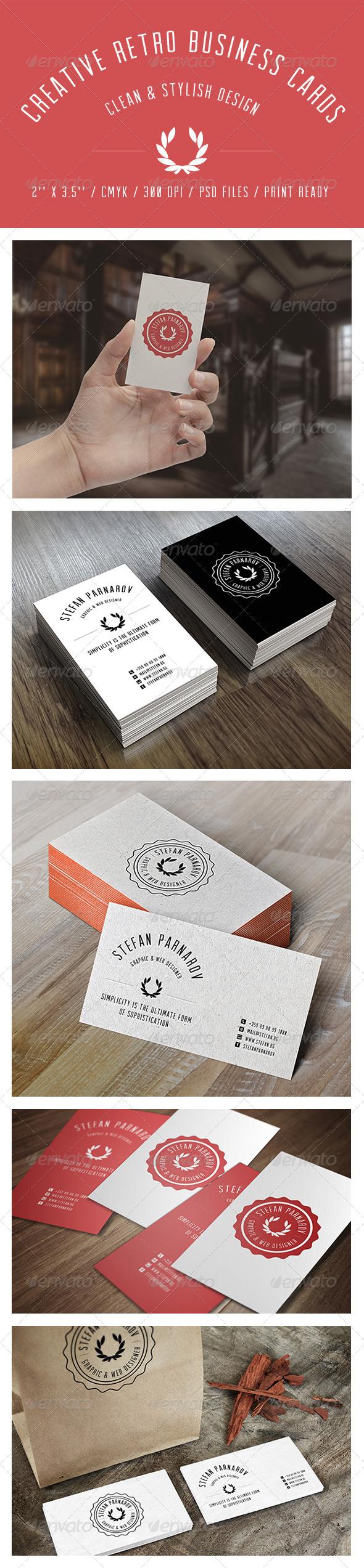 GraphicRiver Creative Retro Business Cards 6766758