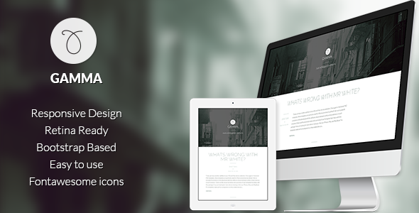 Gamma Responsive bootstrap Ghost theme