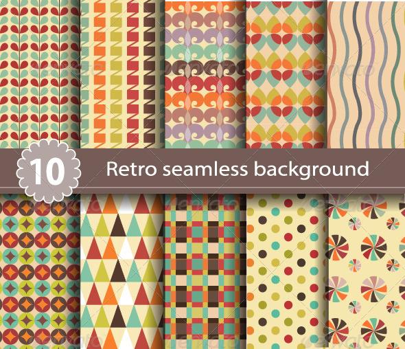 GraphicRiver 10 Retro Seamless Background 6766966