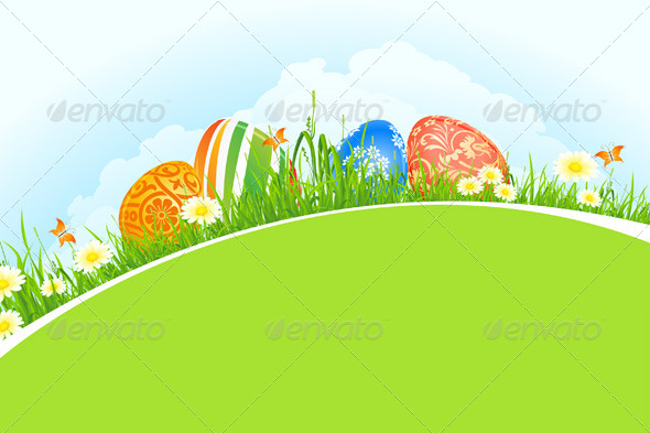GraphicRiver Beautiful Easter Holiday Background 6766982