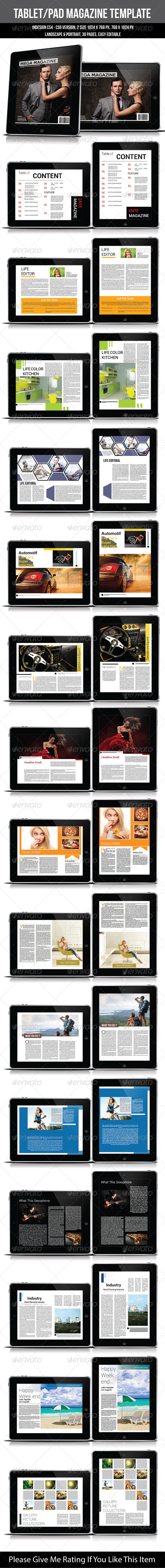 GraphicRiver Tablet Pad Magazine Template 6708085