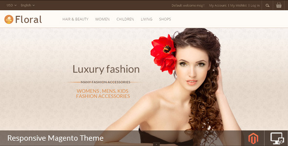 ThemeForest Floral Magento Responsive Template 6767003