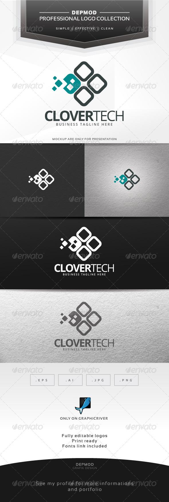 GraphicRiver Clover Tech Logo 6767005