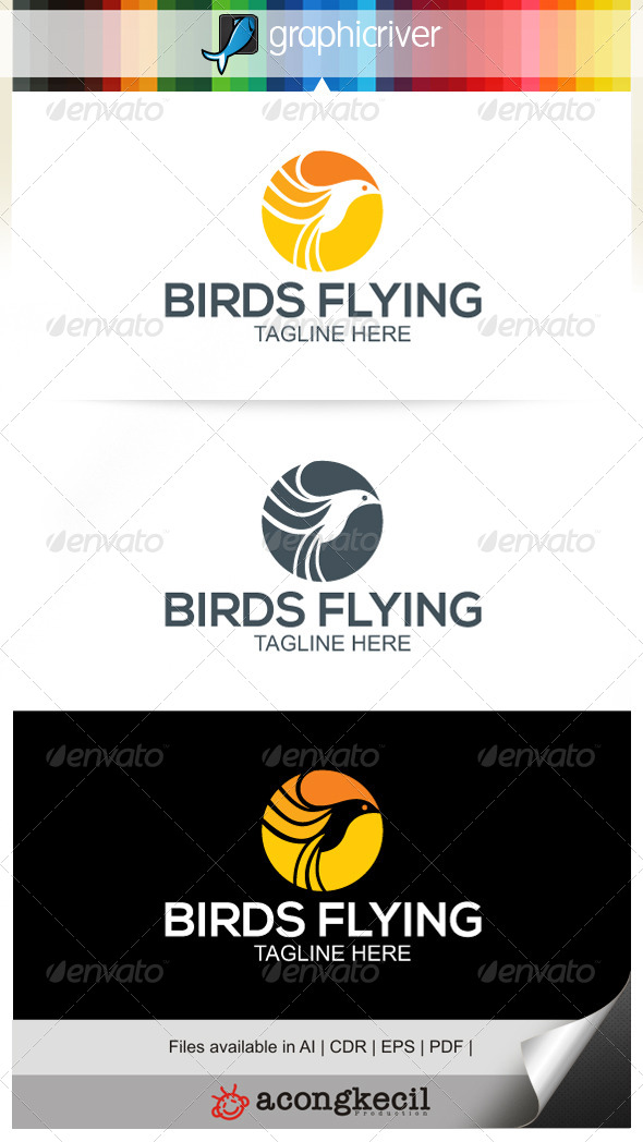 GraphicRiver Birds Flying V.2 6767096