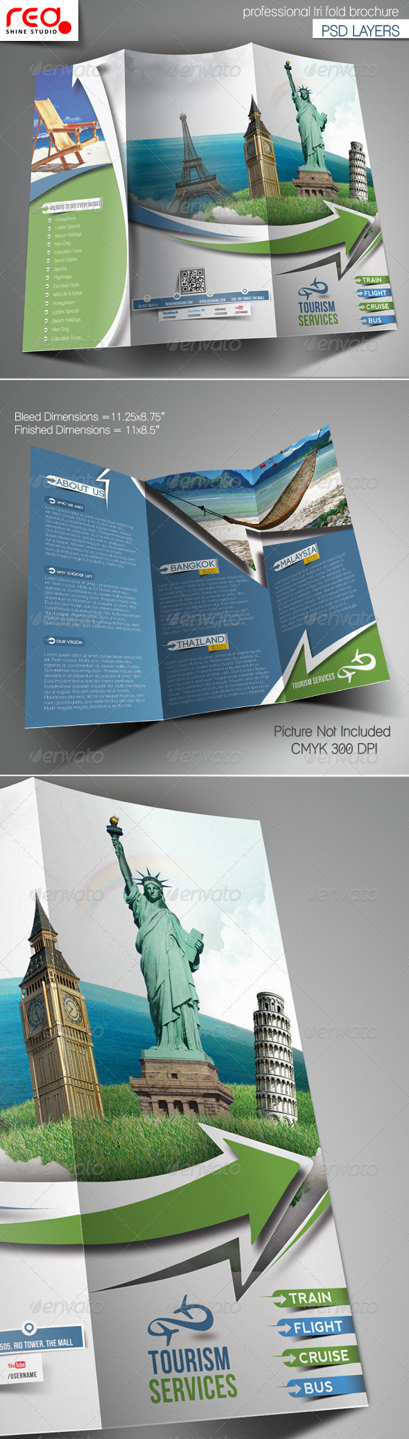 GraphicRiver Travel Tours Trifold Brochure Template 6767111