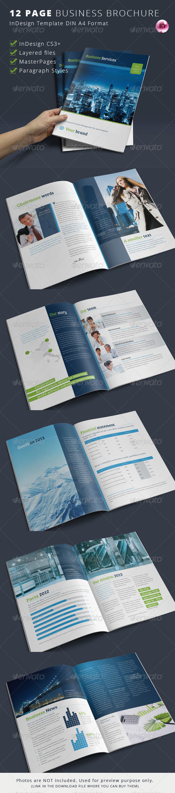 Template product page indesign for 12 page brochure template