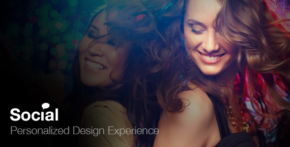 ThemeForest Social Network Admin & Website Template 6767145