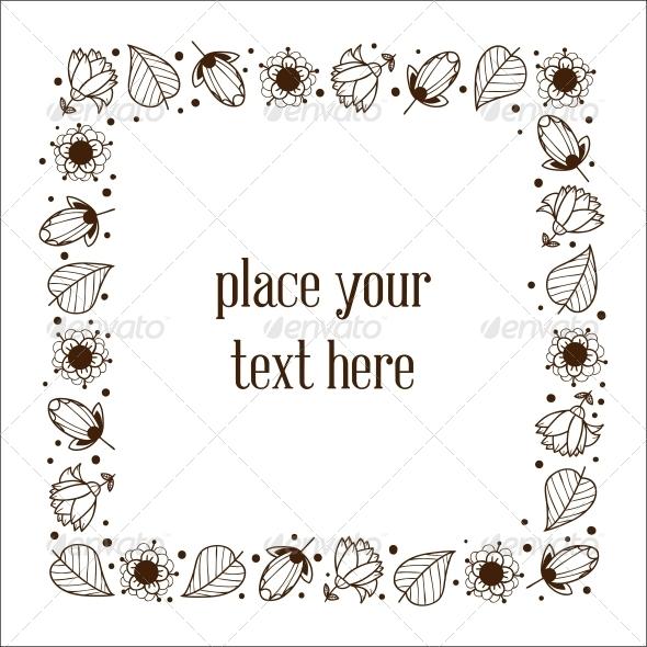 GraphicRiver Floral Frame 6767169