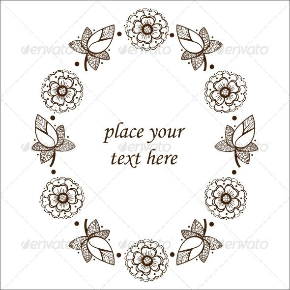 GraphicRiver Floral Frame 6767190