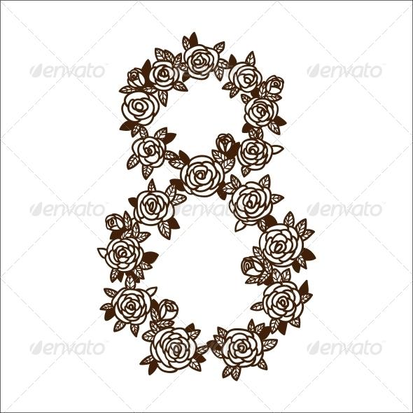 GraphicRiver 8 Flower Shape 6767432