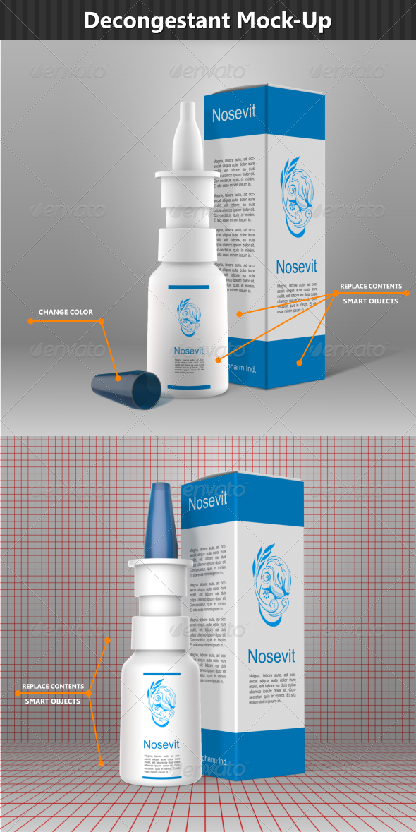 GraphicRiver Nasal Decongestant Mock-Up 6767439