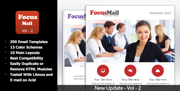 FocusMail - Multipurpose Email Template