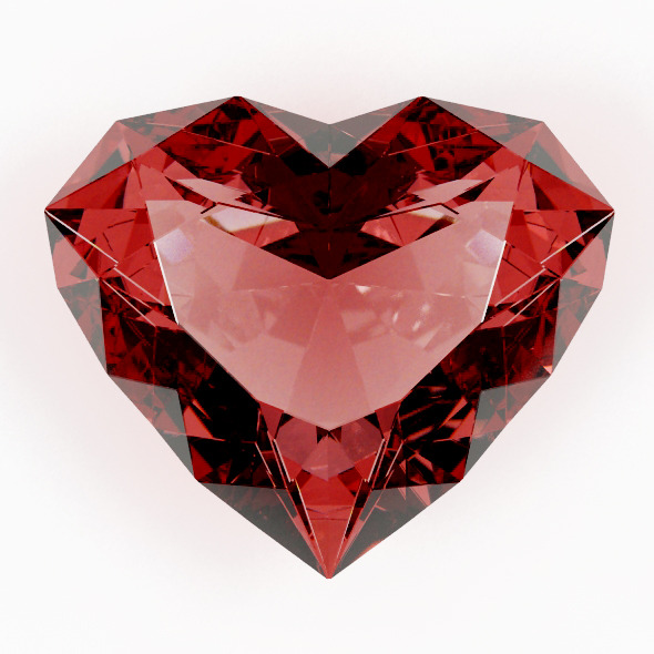 A Heart Shaped Gemstone 01 - 3DOcean Item for Sale