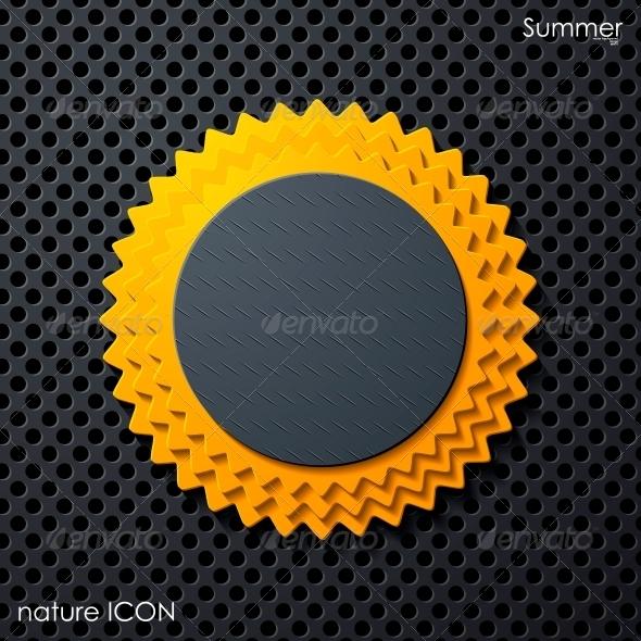 GraphicRiver Summer Sun Icon 6767504
