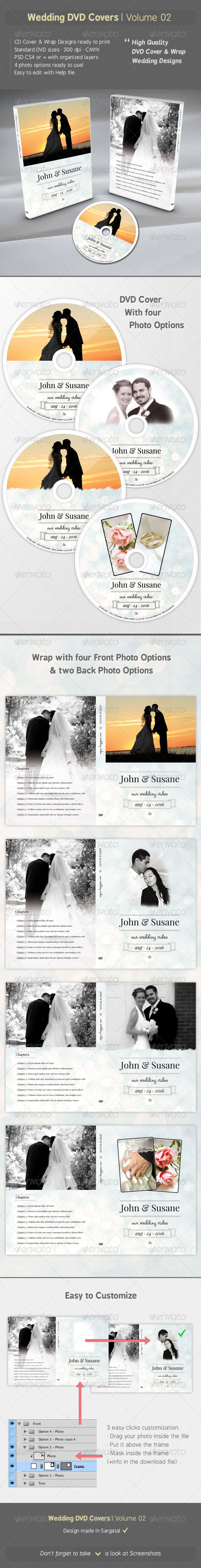 Wedding DVD Covers - Volume 02 - CD & DVD artwork Print Templates