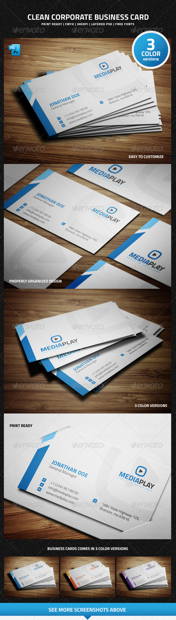 GraphicRiver Clean Corporate Business Card 6767544
