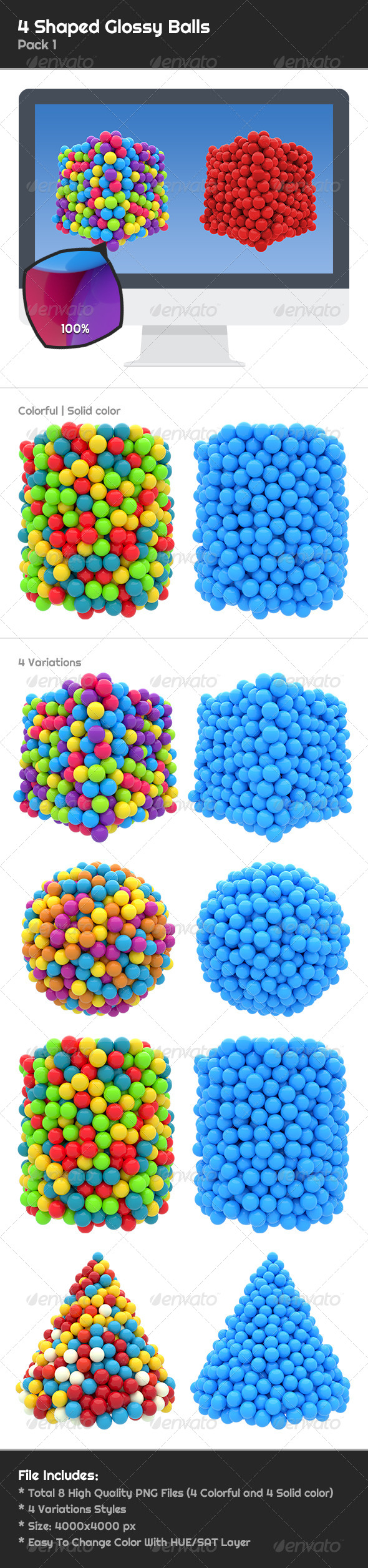 GraphicRiver 4 Shaped Glossy Balls 6767550