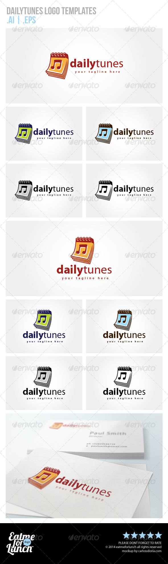 GraphicRiver Daily Tunes Logo Templates 6767797