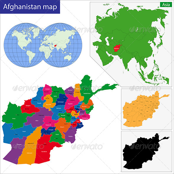 GraphicRiver Afghanistan Map 6767826