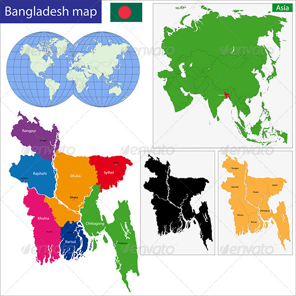 GraphicRiver Bangladesh Map 6767886