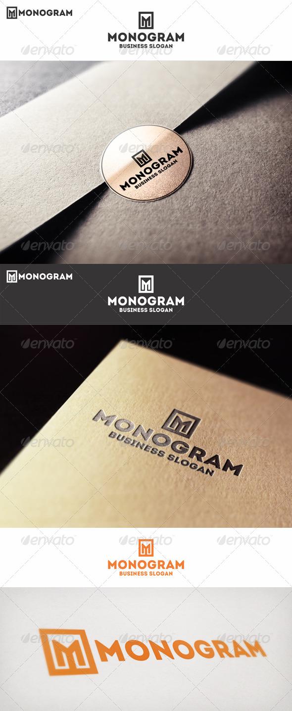 GraphicRiver Monogram M Logo Letter 6767887