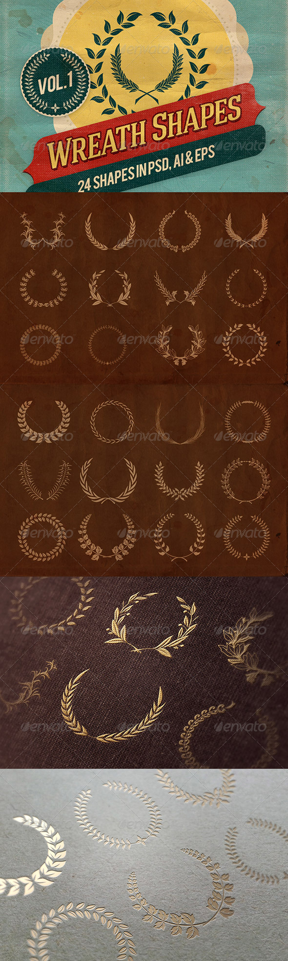 GraphicRiver Wreath Shapes Vol.1 6767956