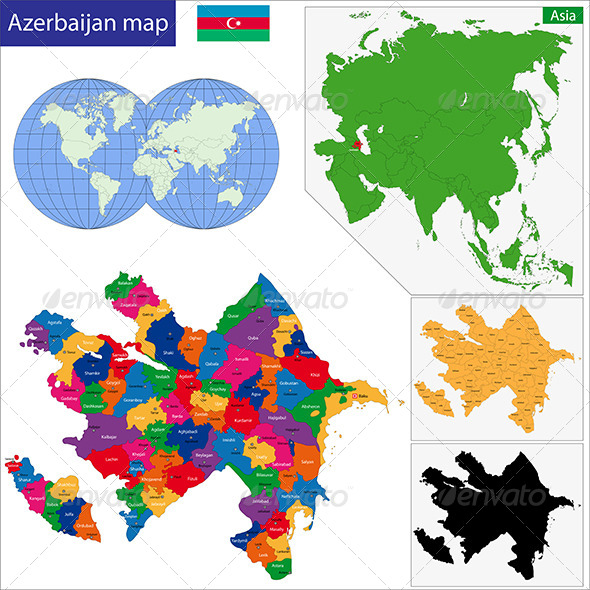 GraphicRiver Azerbaijan Map 6767980