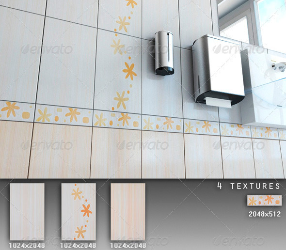 Professional Ceramic Tile Collection C071 - 3DOcean Item for Sale