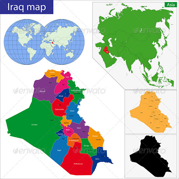 GraphicRiver Iraq Map 6768040