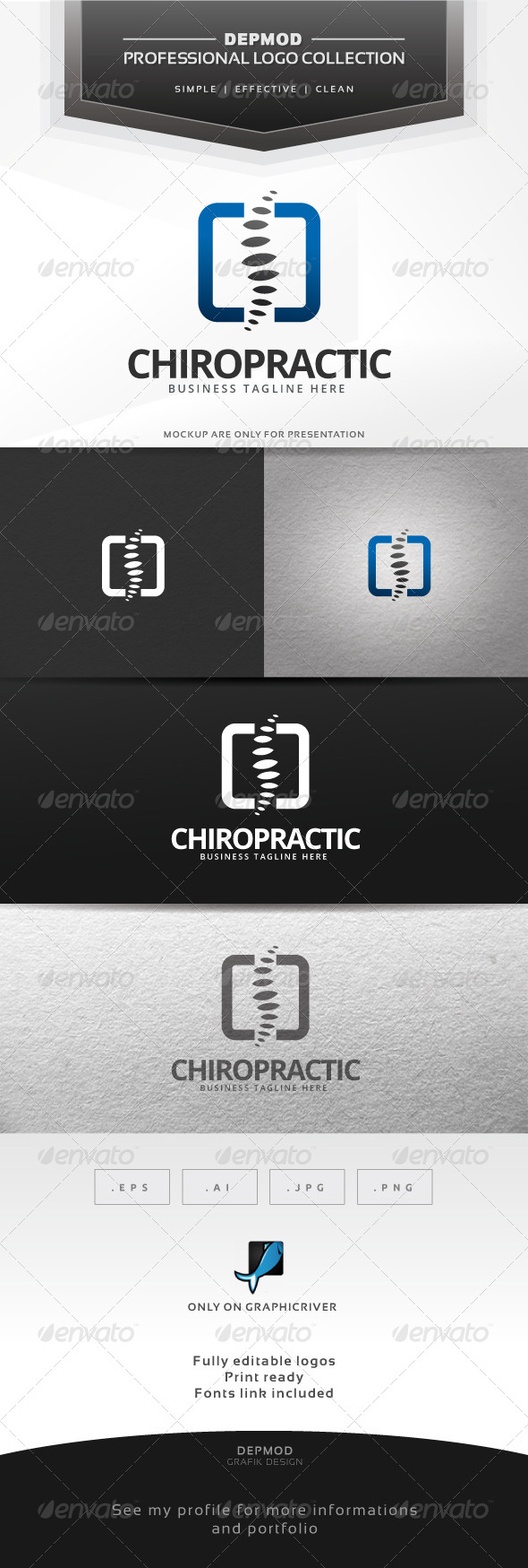 GraphicRiver Chiropractic Logo 6768051