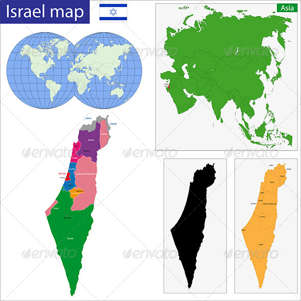 GraphicRiver Israel Map 6768055