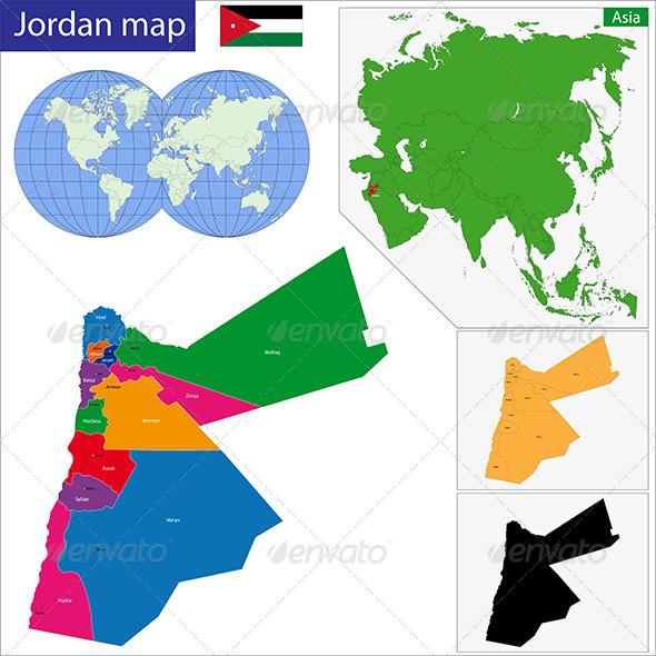 GraphicRiver Jordan Map 6768077