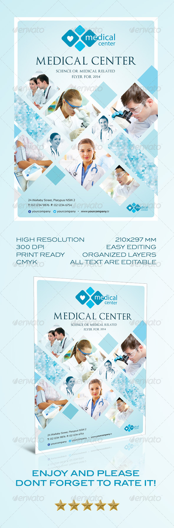 GraphicRiver Medical Flyer Template 6733834