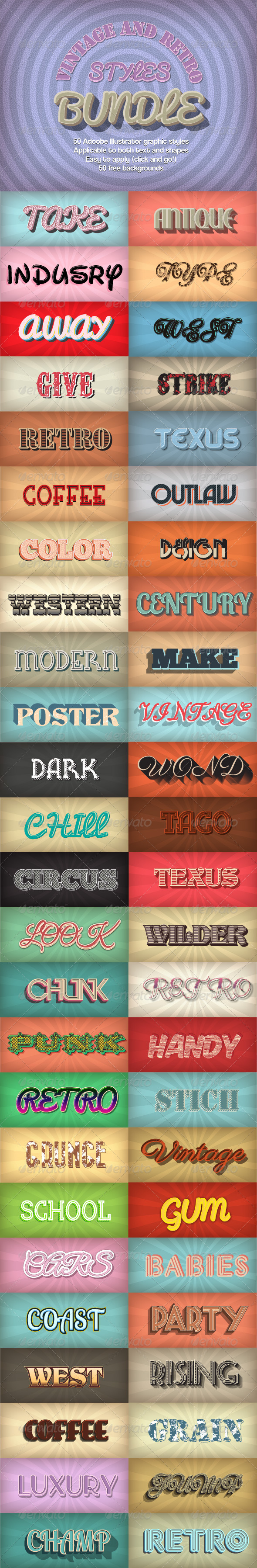 GraphicRiver Bundle-Vintage and Retro Styles 6757408