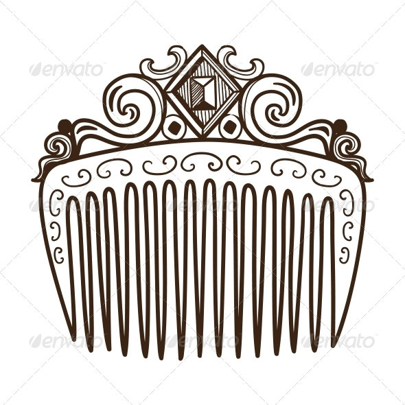 GraphicRiver Comb with Decorations 6768086