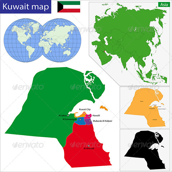 GraphicRiver Kuwait Map 6768092