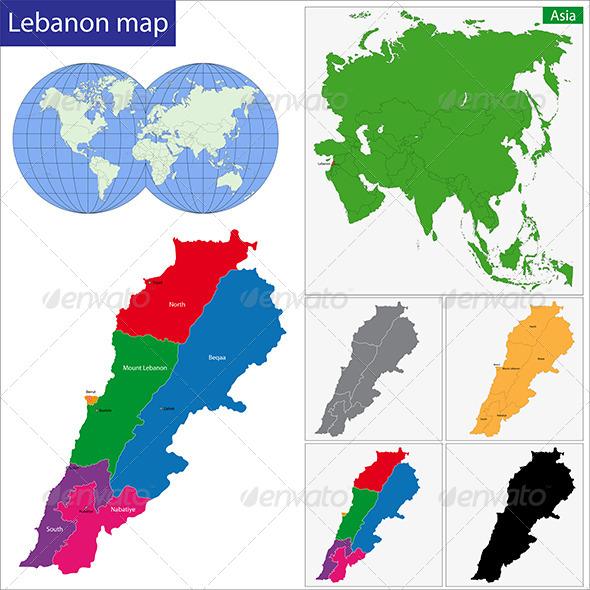GraphicRiver Lebanon Map 6768112