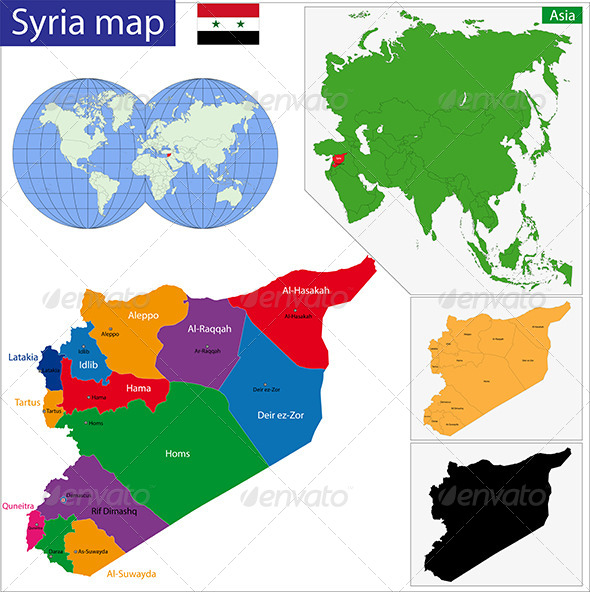 GraphicRiver Syria Map 6768127