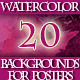 Set of Abstract Watercolor Background for Posters - GraphicRiver Item for Sale