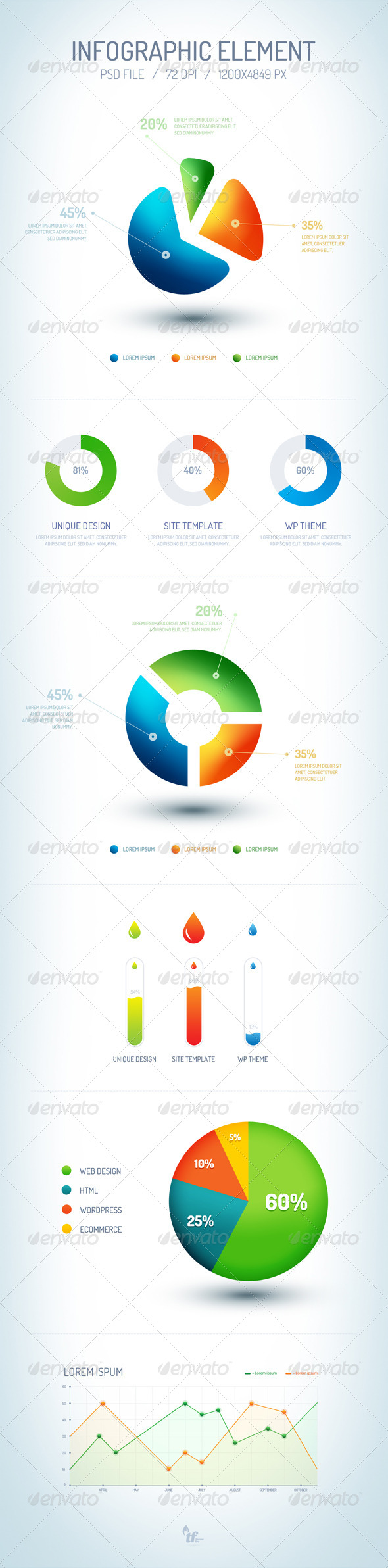GraphicRiver Infographic Element PSD 6768523