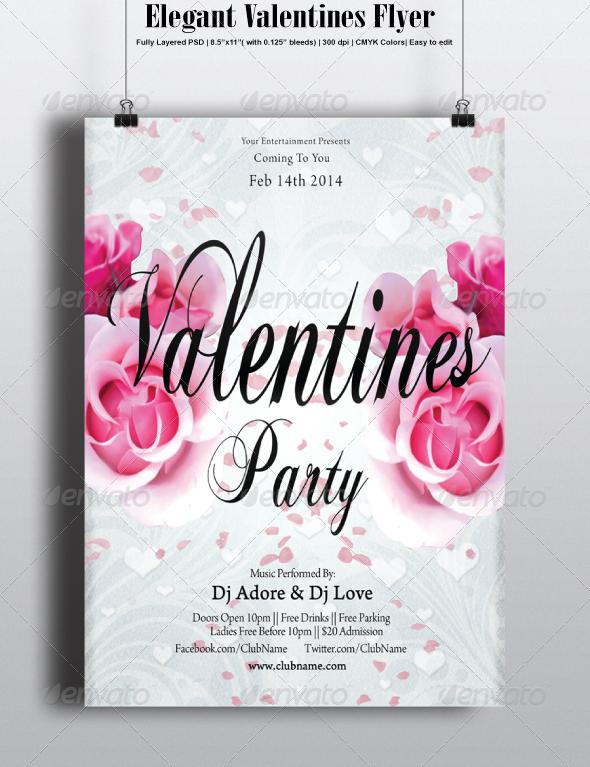 GraphicRiver Elegant Valentines Flyer 6761943
