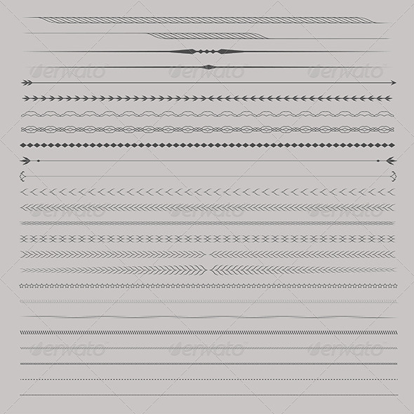 GraphicRiver Set of Vector Dividers 6768603