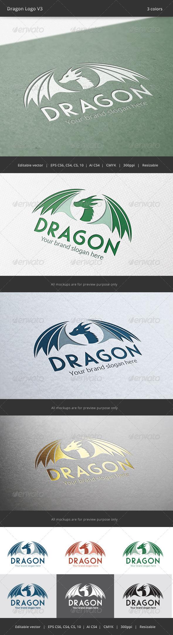 GraphicRiver Dragon V3 Logo 6768607