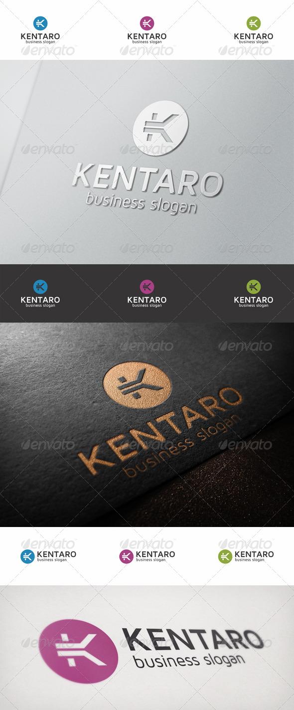 K Logo Letter - Kentaro - Letters Logo Templates